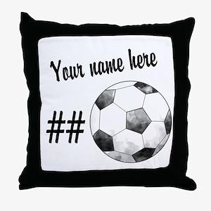 Soccer Art Throw Pillow