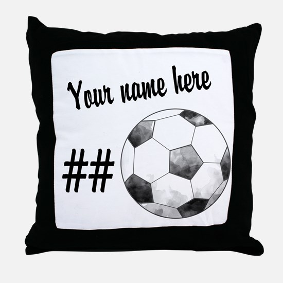Soccer Art Throw Pillow