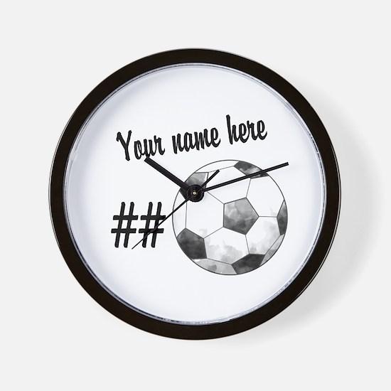 Soccer Art Wall Clock