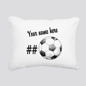 Soccer Art Rectangular Canvas Pillow