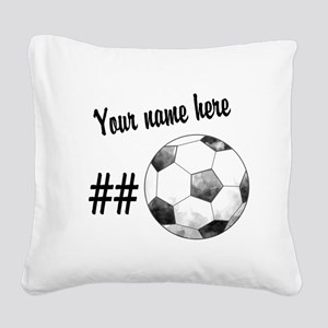 Soccer Art Square Canvas Pillow