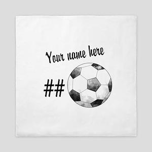 Soccer Art Queen Duvet
