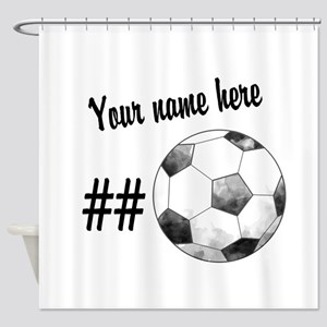 Soccer Art Shower Curtain