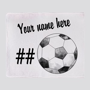 Soccer Art Throw Blanket