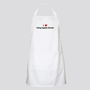 I Love being legally blonde BBQ Apron