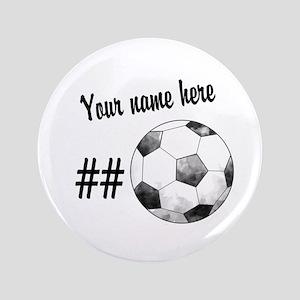 """Soccer Art 3.5"""" Button"""