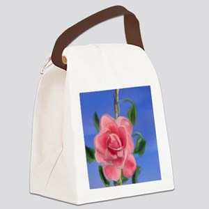 Pink Rambling Rose Canvas Lunch Bag