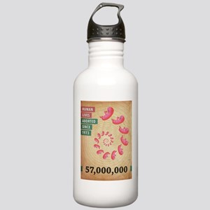 Fifty Seven Million Abortions Water Bottle