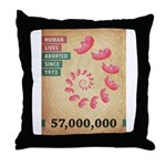 Fifty Seven Million Abortions Throw Pillow