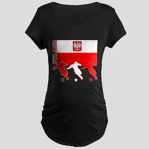 Poland Soccer Maternity Dark T-Shirt