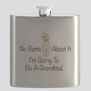 No Butts Grandma To Be Flask