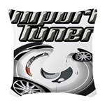Import Tuner Woven Throw Pillow