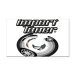 Import Tuner Rectangle Car Magnet