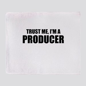 Trust Me, I'm A Producer Throw Blanket