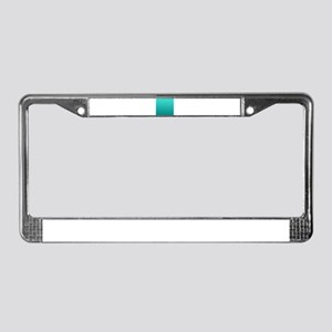 Turquoise to teal gradient License Plate Frame