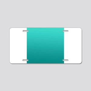 Turquoise to teal gradient Aluminum License Plate