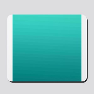 Turquoise to teal gradient Mousepad