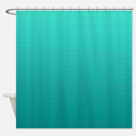 Turquoise to teal gradient Shower Curtain