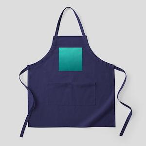 Turquoise to teal gradient Apron (dark)