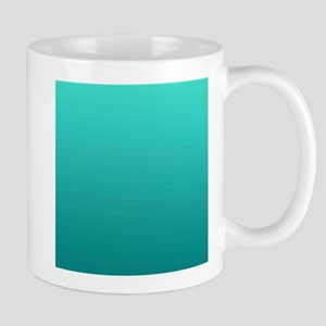 Turquoise to teal gradient Mugs