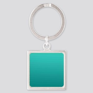 Turquoise to teal gradient Keychains