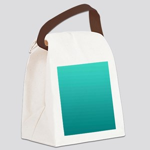 Turquoise to teal gradient Canvas Lunch Bag