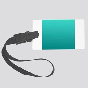 Turquoise to teal gradient Luggage Tag