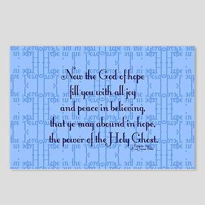 Romans 15:13 Scripture Postcards (Package of 8)