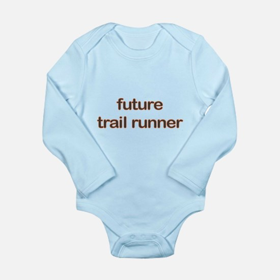 Future Trailrun Orange Long Sleeve Infant Bodysuit