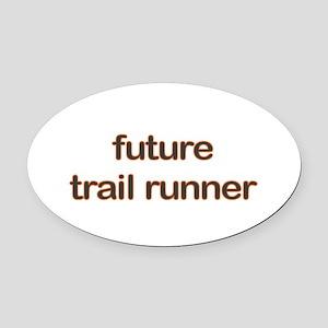 Future Trailrun Orange Oval Car Magnet