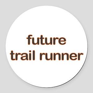 Future Trailrun Orange Round Car Magnet