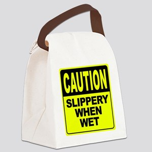 Slippery When Wet Canvas Lunch Bag