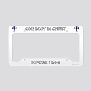 One Body In Christ License Plate Holder
