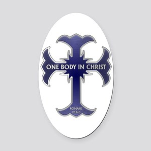 One Body In Christ Oval Car Magnet