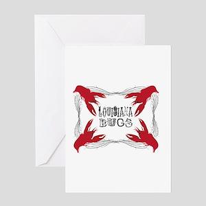 Louisiana Bugs Greeting Cards
