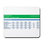 Badly Parked Cars Bus Timetable Mousepad