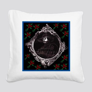 Phantom, (with Red Roses) Square Canvas Pillow