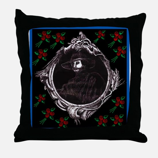 Phantom (with Red Roses) ~ Throw Pillow