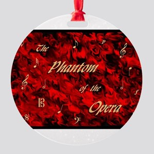 Phantom of the Opera, Red Swirl Logo, Round Orname