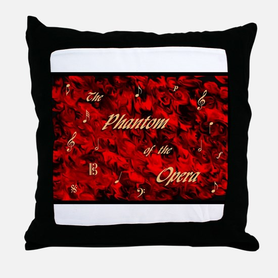 Cute Phantom of the opera Throw Pillow