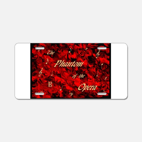 Cute Phantom of the opera Aluminum License Plate