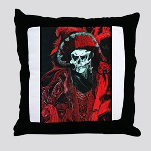 La Mort Rouge - Red Death Throw Pillow