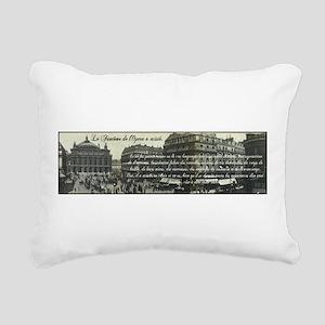 Paris Opera House Rectangular Canvas Pillow