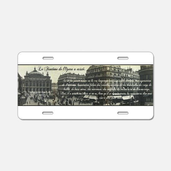 Paris Opera House View Aluminum License Plate
