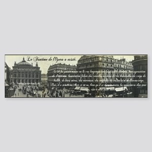 Paris Opera House View Sticker (Bumper)