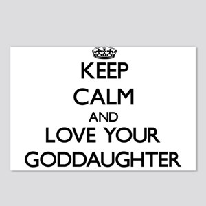 Keep Calm and Love your Goddaughter Postcards (Pac