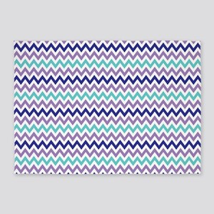 Purple, Lavender, Aqua Chevron 5'x7'Area Rug