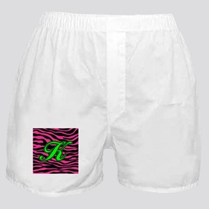 HOT PINK ZEBRA GREEN K Boxer Shorts