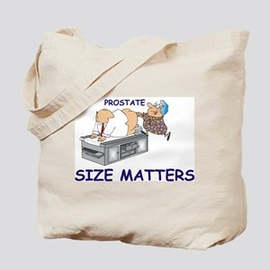 Prostate size matters Tote Bag