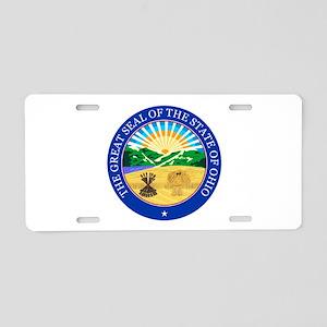 Ohio Seal Aluminum License Plate